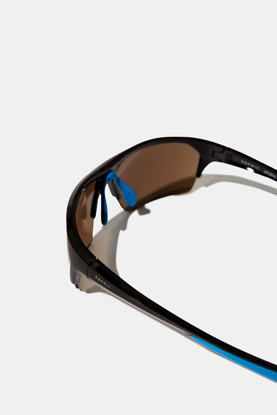 Sports sunglasses with mirrored lenses, LCBROWN, detail image number 1