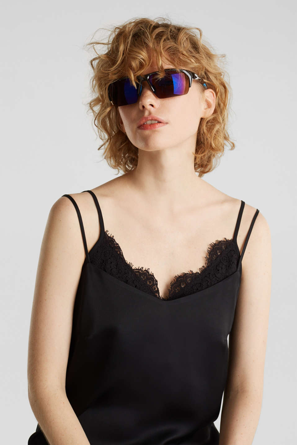 Sports sunglasses with mirrored lenses, LCBROWN, detail image number 2