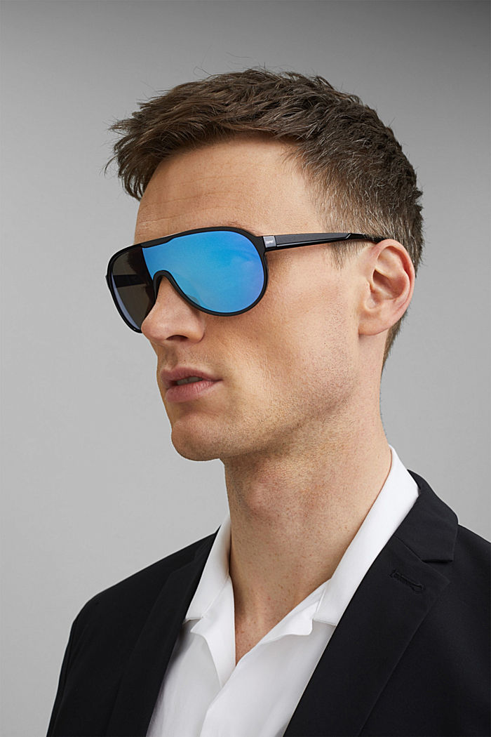 Sport-Sonnenbrille im Shield-Design, BLUE, detail image number 3