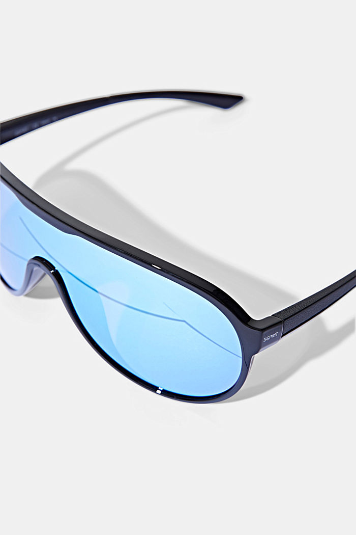 Sport-Sonnenbrille im Shield-Design, BLUE, detail image number 1