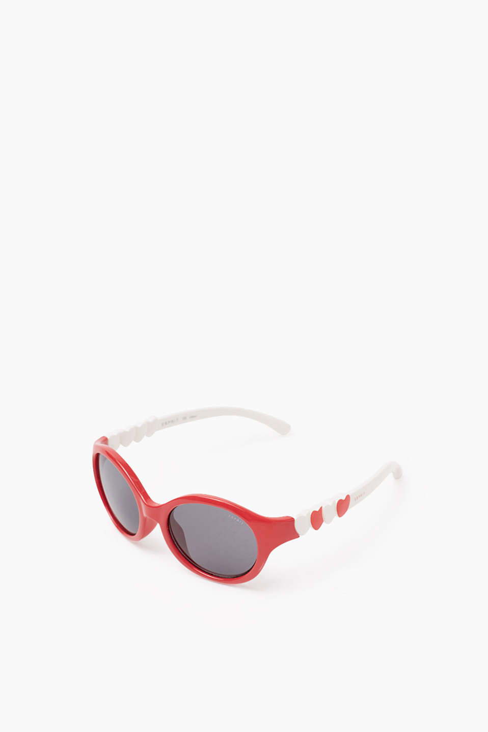 Bicolour sunglasses with heart details, RED, detail image number 0
