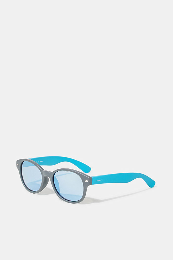 Kids' sunglasses with mirrored lenses, BLUE GRAY, detail image number 0