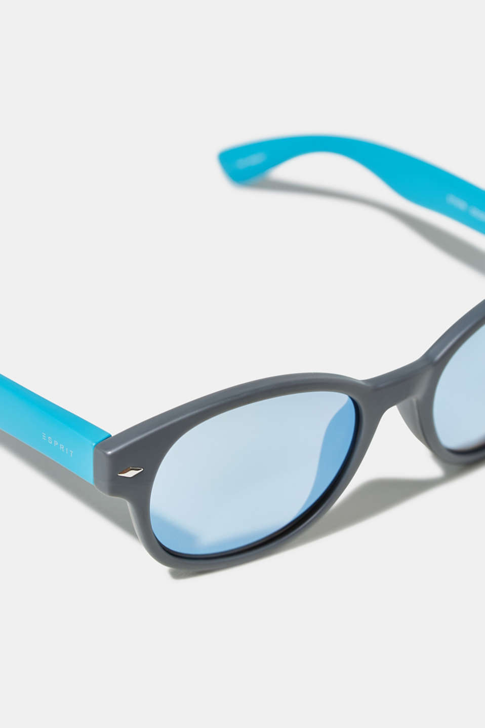 Kids' sunglasses with mirrored lenses, BLUE GRAY, detail image number 1