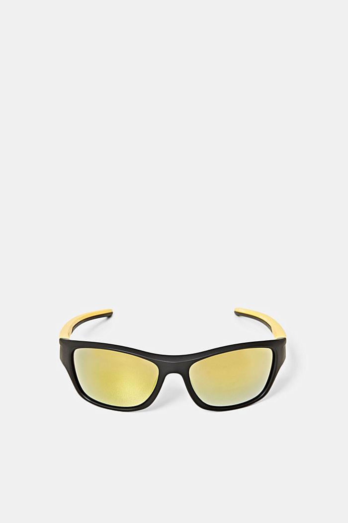 Sport-Sonnenbrille mit flexiblen Bügeln, BLACK, detail image number 0