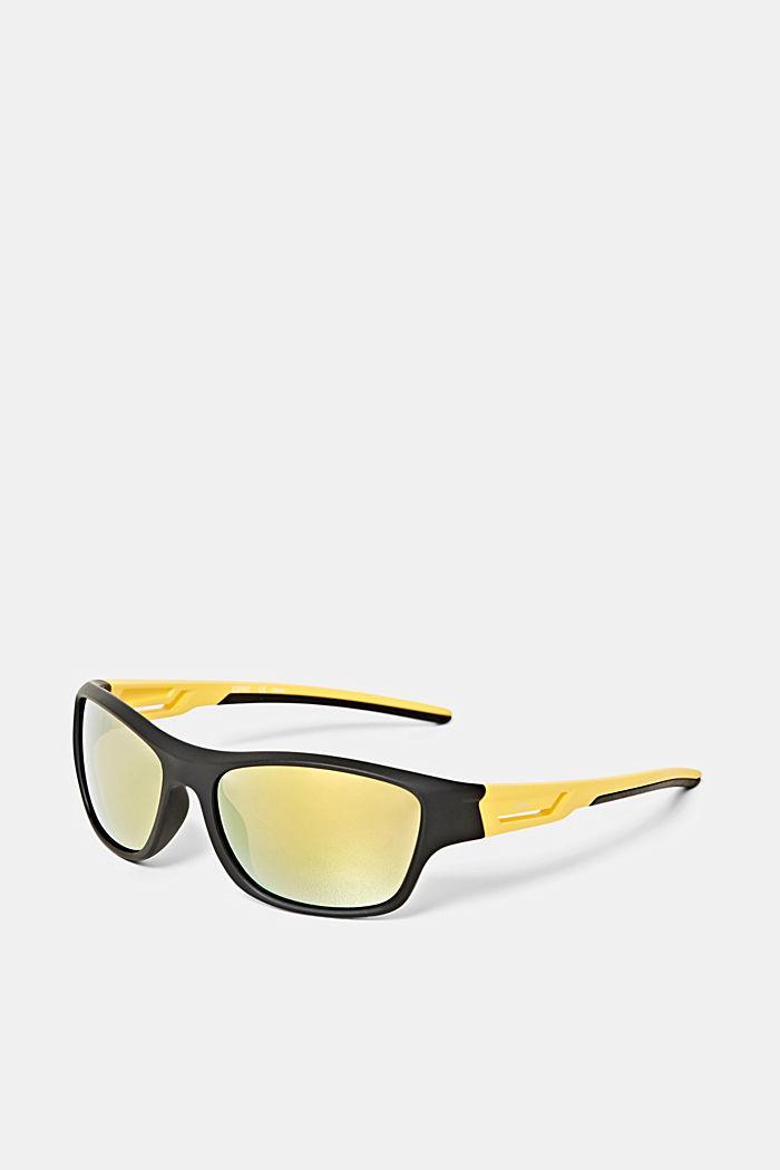 Sport-Sonnenbrille mit flexiblen Bügeln, BLACK, detail image number 2