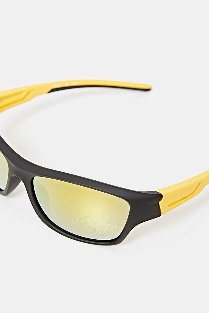 Sport-Sonnenbrille mit flexiblen Bügeln, BLACK, detail image number 1