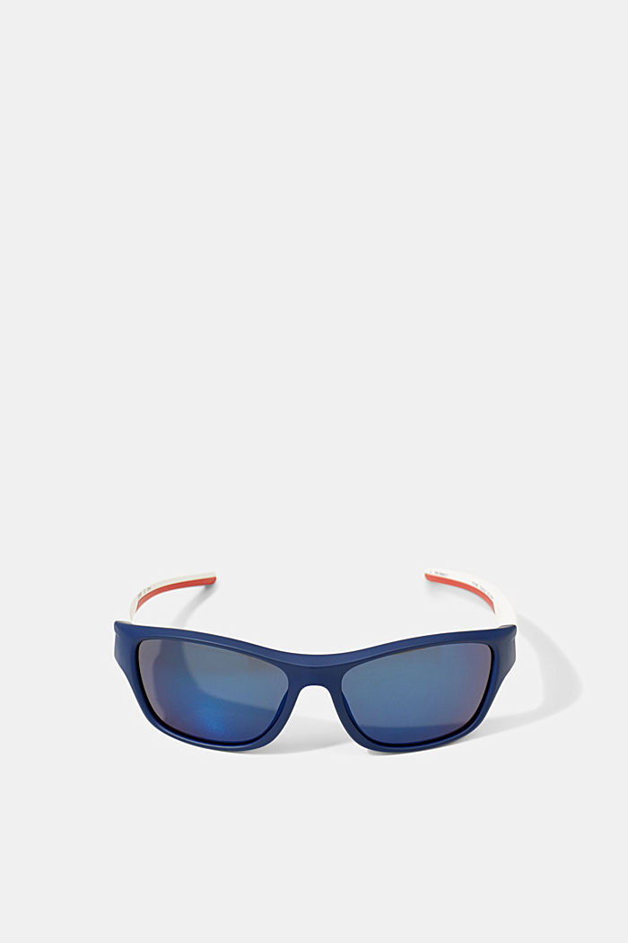 Sports sunglasses with flexible temples, BLUE, detail image number 0