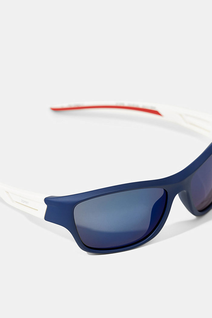 Sports sunglasses with flexible temples, BLUE, detail image number 1