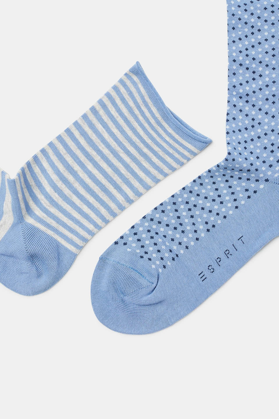 3 pack fine socks, plain and patterned