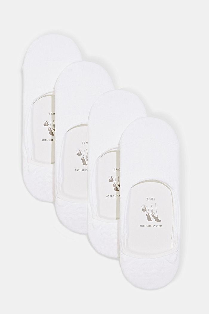 Pack de cuatro pares de calcetines invisibles con sistema antideslizante