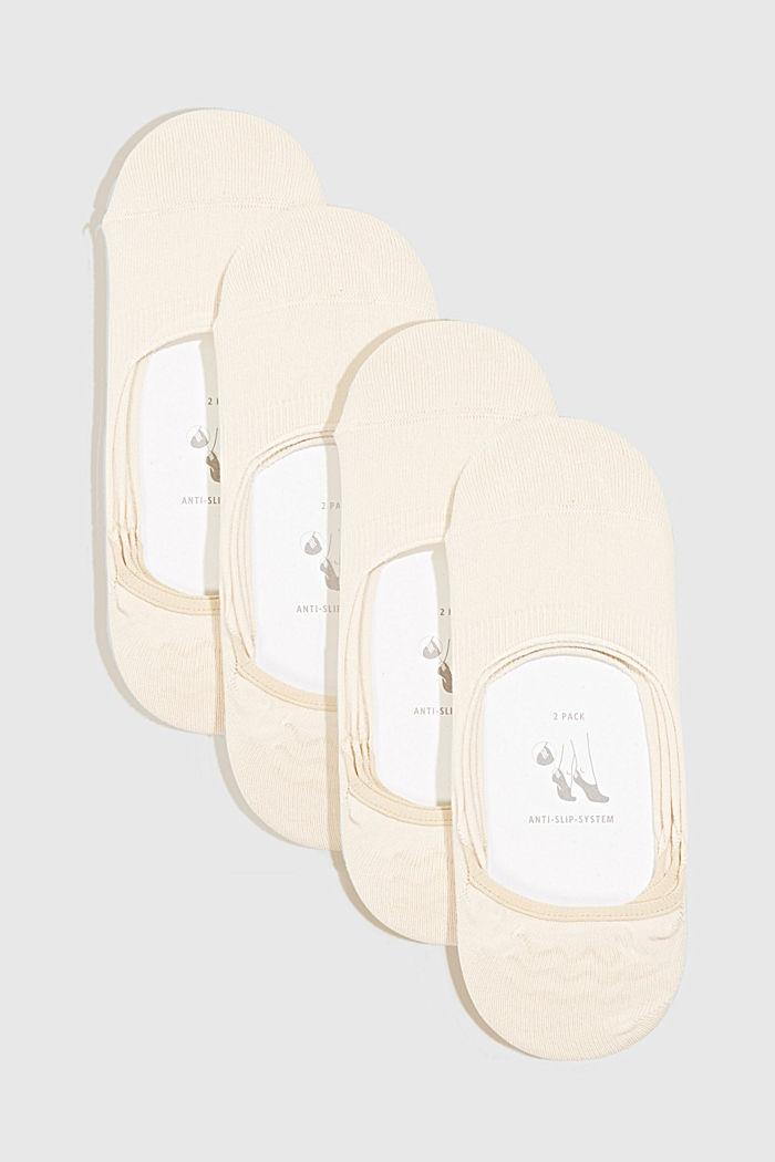 Sockor i 4-pack med antihalksystem, CREAM, detail image number 0