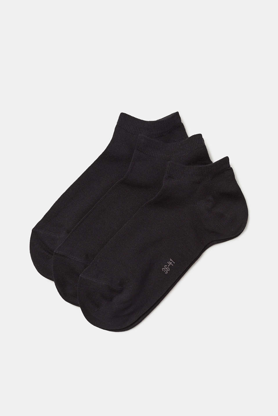 Esprit - 3-pack of blended cotton trainer socks