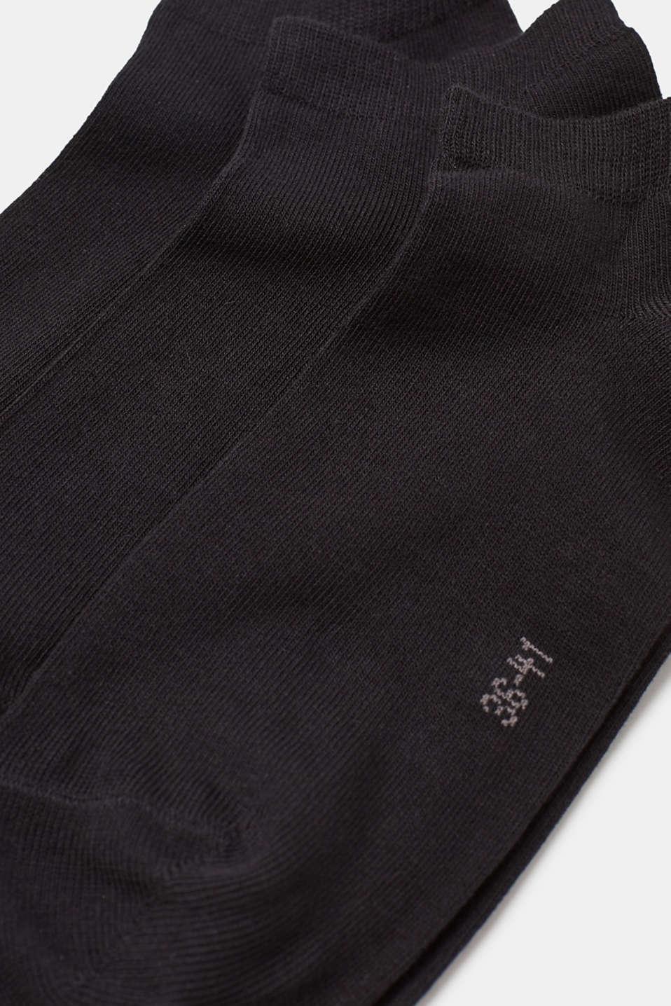 3-pack of blended cotton trainer socks, BLACK, detail image number 1