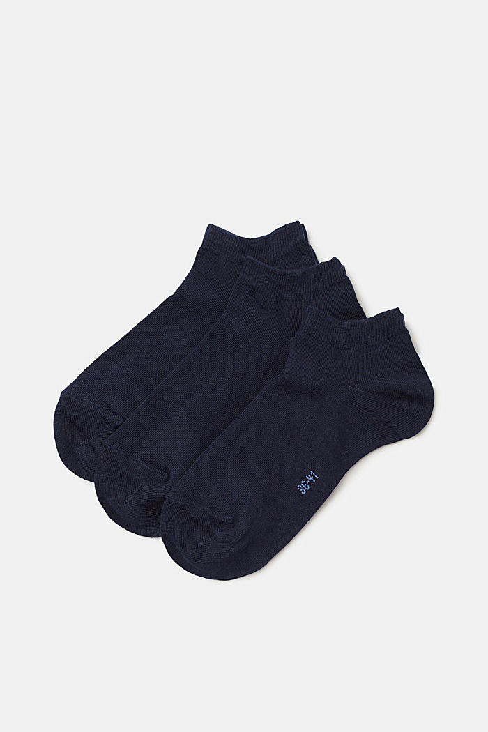 3er-Pack Sneaker-Socken aus Baumwoll-Mix, MARINE, detail image number 0
