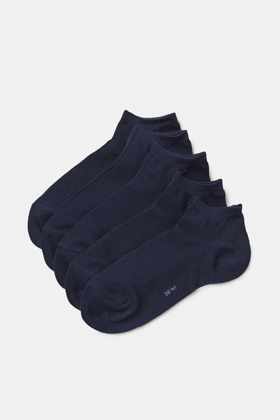 Esprit - 5 pairs of plain trainer socks