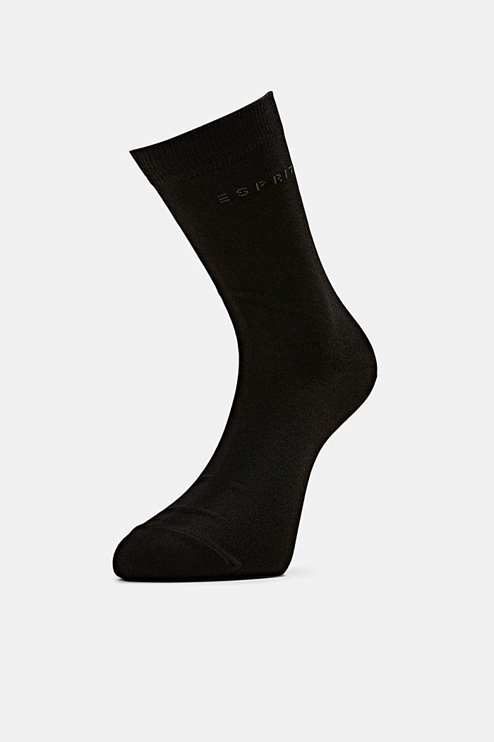 5er-Pack unifarbene Socken, BLACK, detail image number 1