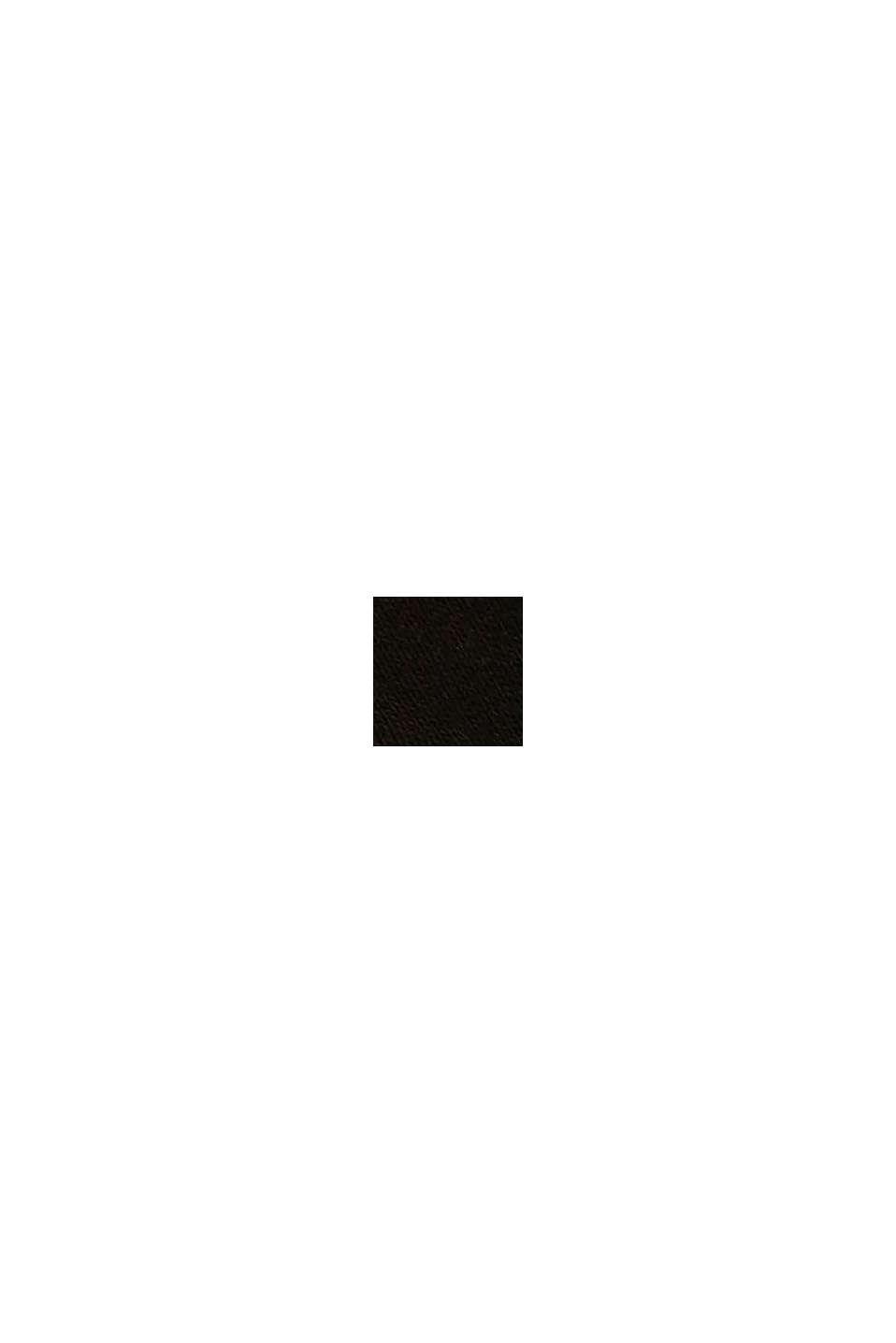 Calzini in tinta unita in confezione da 5, cotone biologico, BLACK, swatch