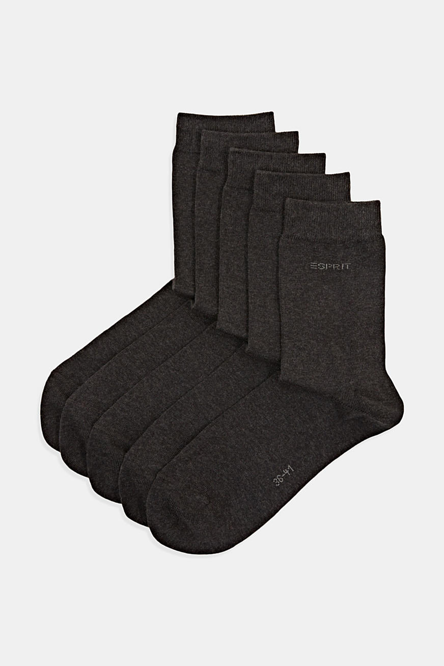 pack of 5 plain socks
