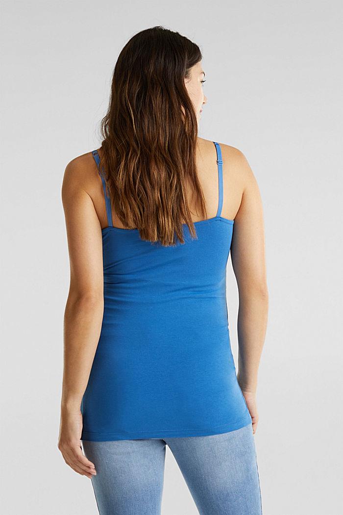 Still-Top aus Baumwoll-Stretch, GREY BLUE, detail image number 1