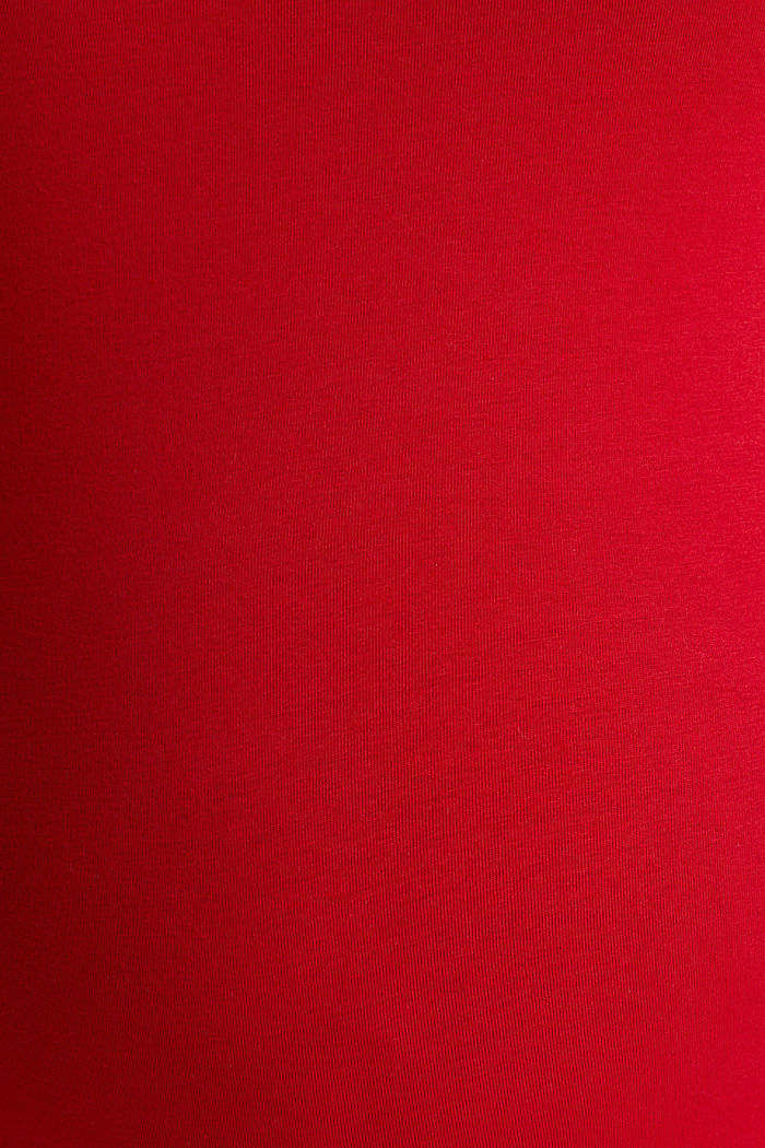 Still-Top aus Baumwoll-Stretch, RED, detail image number 4