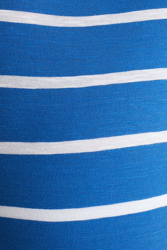 T-shirt with stripes, 100% cotton, GREY BLUE, detail image number 4