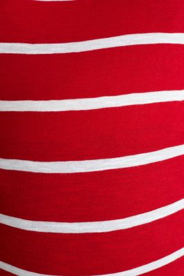 T-shirt with stripes, 100% cotton, LCRED, detail