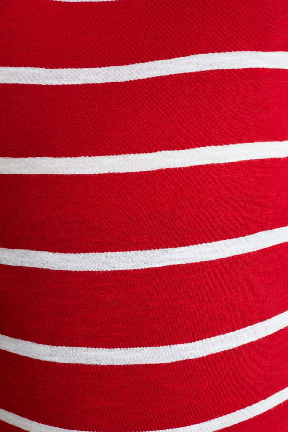 T-shirt with stripes, 100% cotton, LCRED, detail image number 4