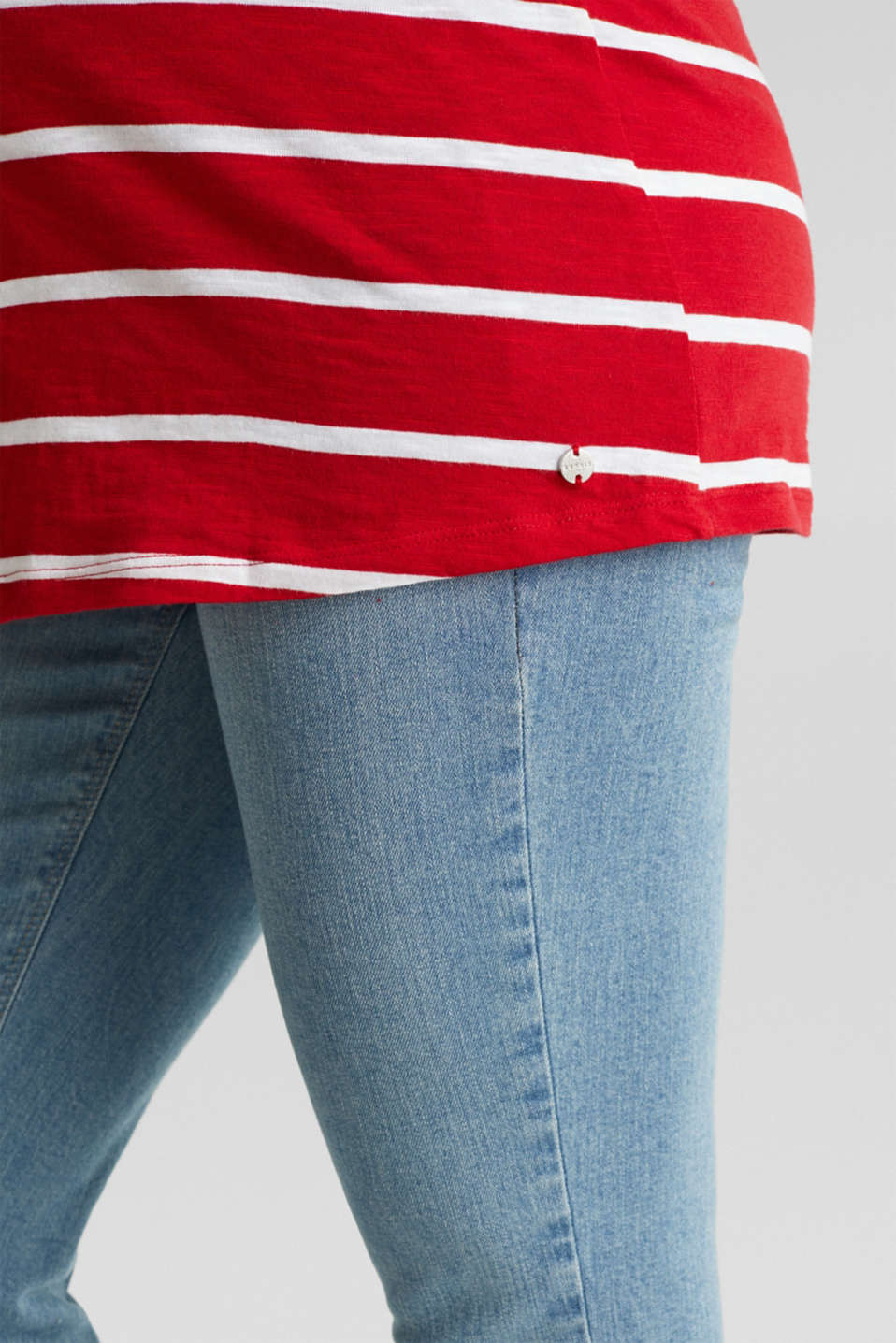 T-shirt with stripes, 100% cotton, LCRED, detail image number 5