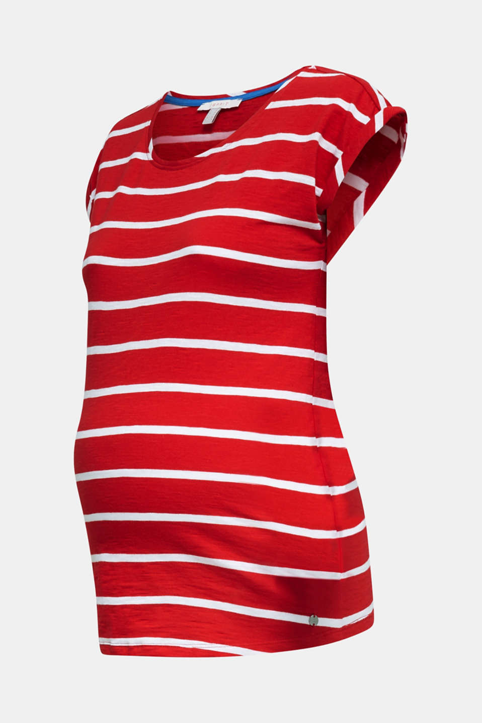 T-shirt with stripes, 100% cotton, LCRED, detail image number 6
