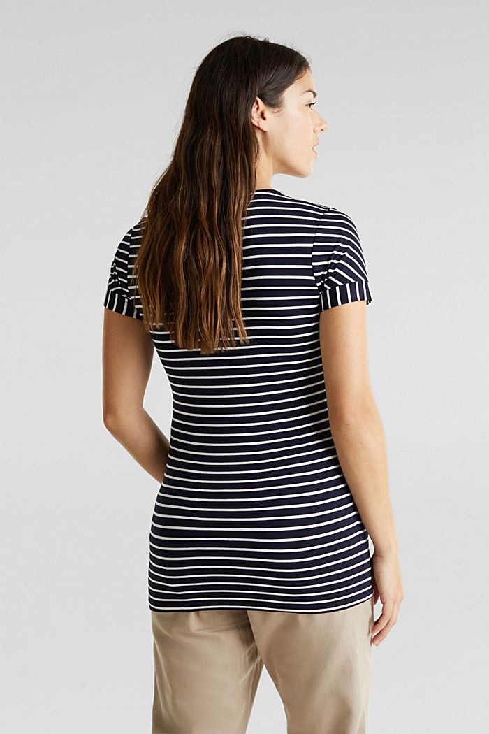 Nursing top with stripes and pleats, NIGHT BLUE, detail image number 3