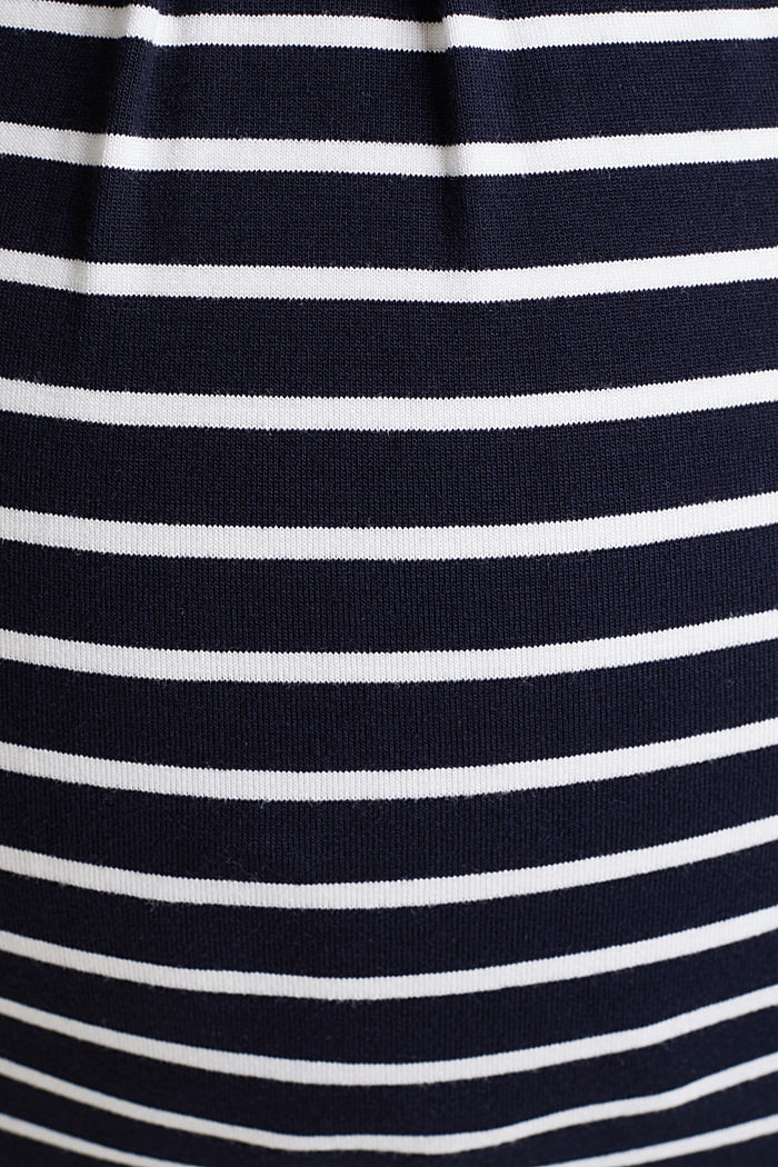 Nursing top with stripes and pleats, NIGHT BLUE, detail image number 4