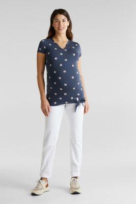 Stretch jersey blouse top, LCGUNMETAL, detail