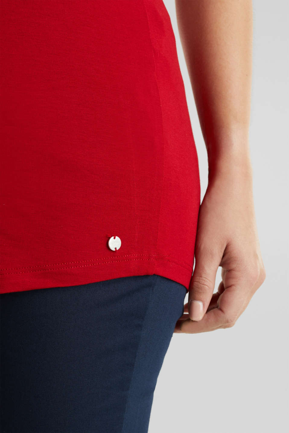 Nursing top made of stretch jersey with a shawl collar, LCRED, detail image number 6