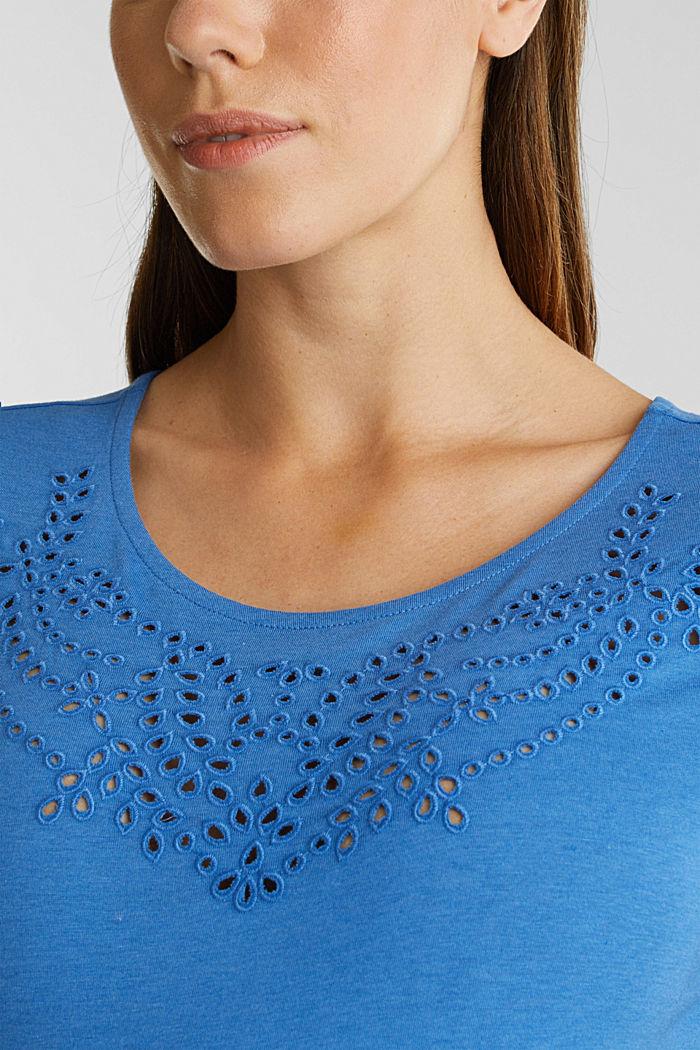 Shirt mit Loch-Stickerei, GREY BLUE, detail image number 2