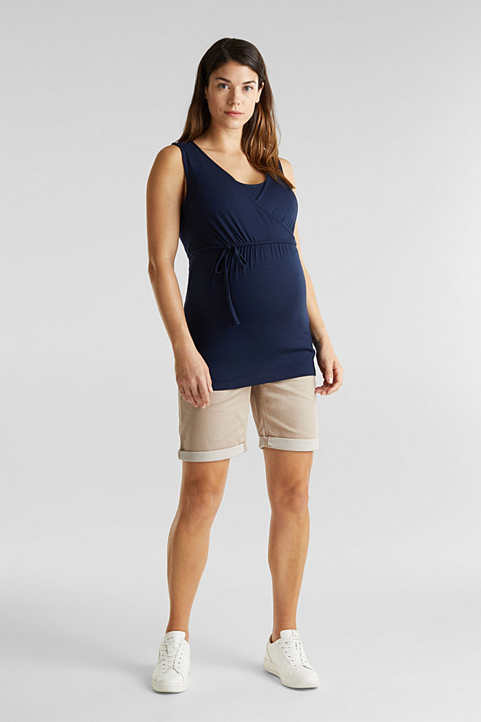 Nursing top with a wrap-over effect, NIGHT BLUE, detail image number 1
