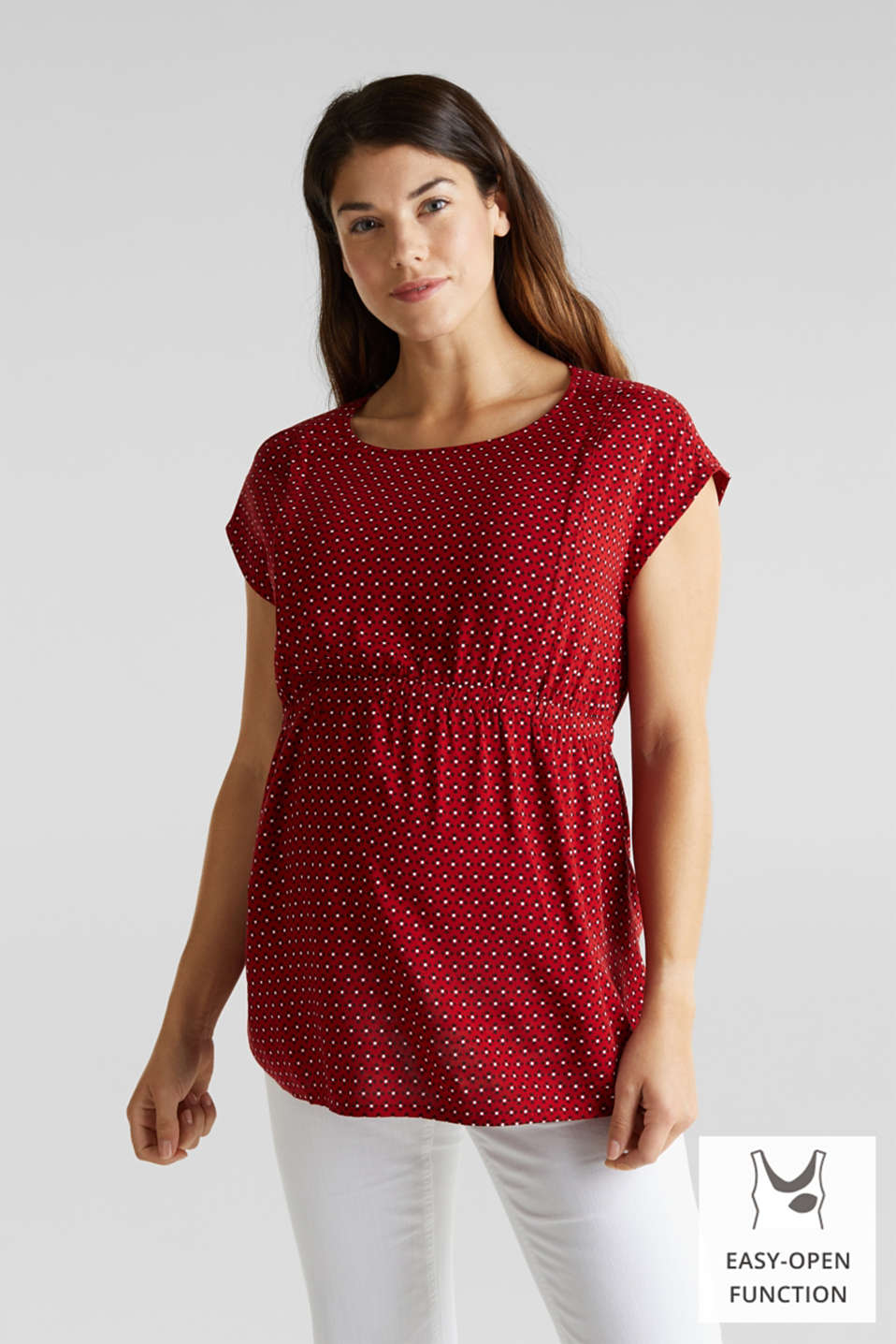 Blouse top for nursing, LCRED, detail image number 0