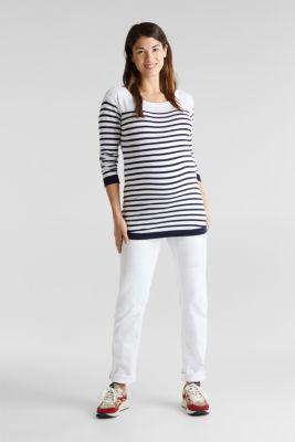 Fine knit jumper, 100% cotton, LCWHITE, detail