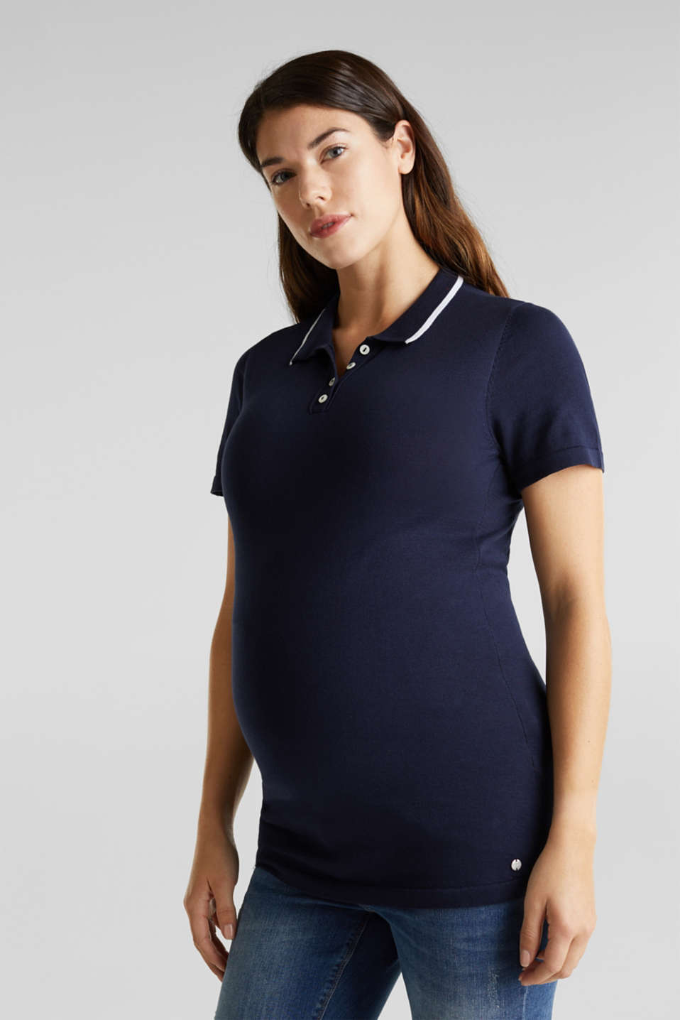 Esprit - Polo shirt jumper in 100% cotton