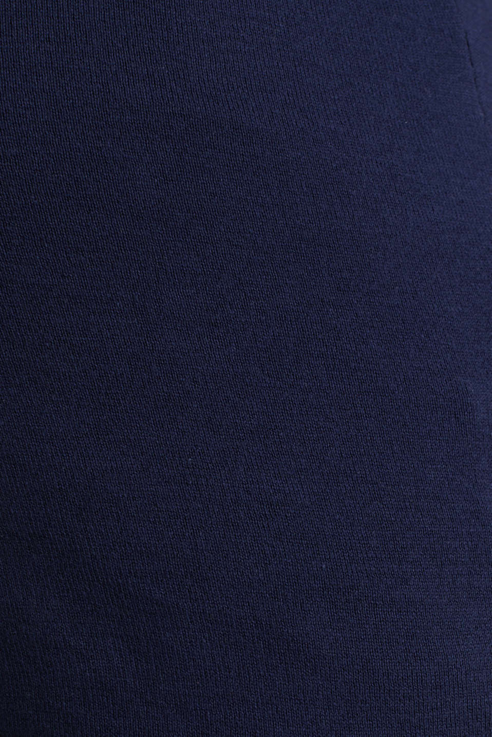 Fine knit polo shirt, 100% cotton, LCNIGHT BLUE, detail image number 4