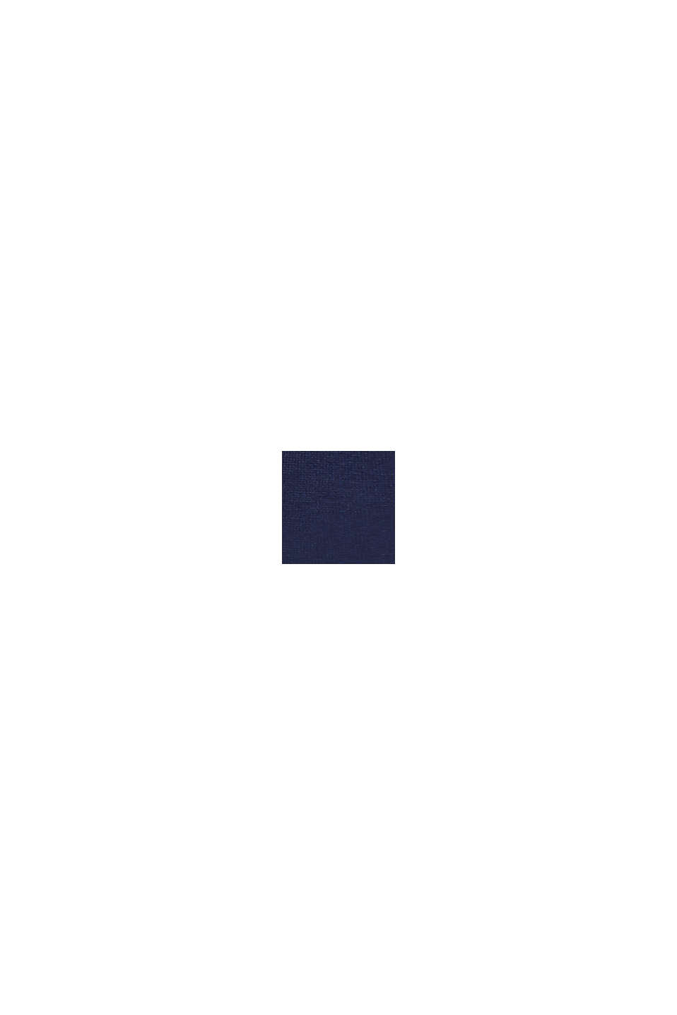 Polosweater i 100% bomuld, NIGHT BLUE, swatch