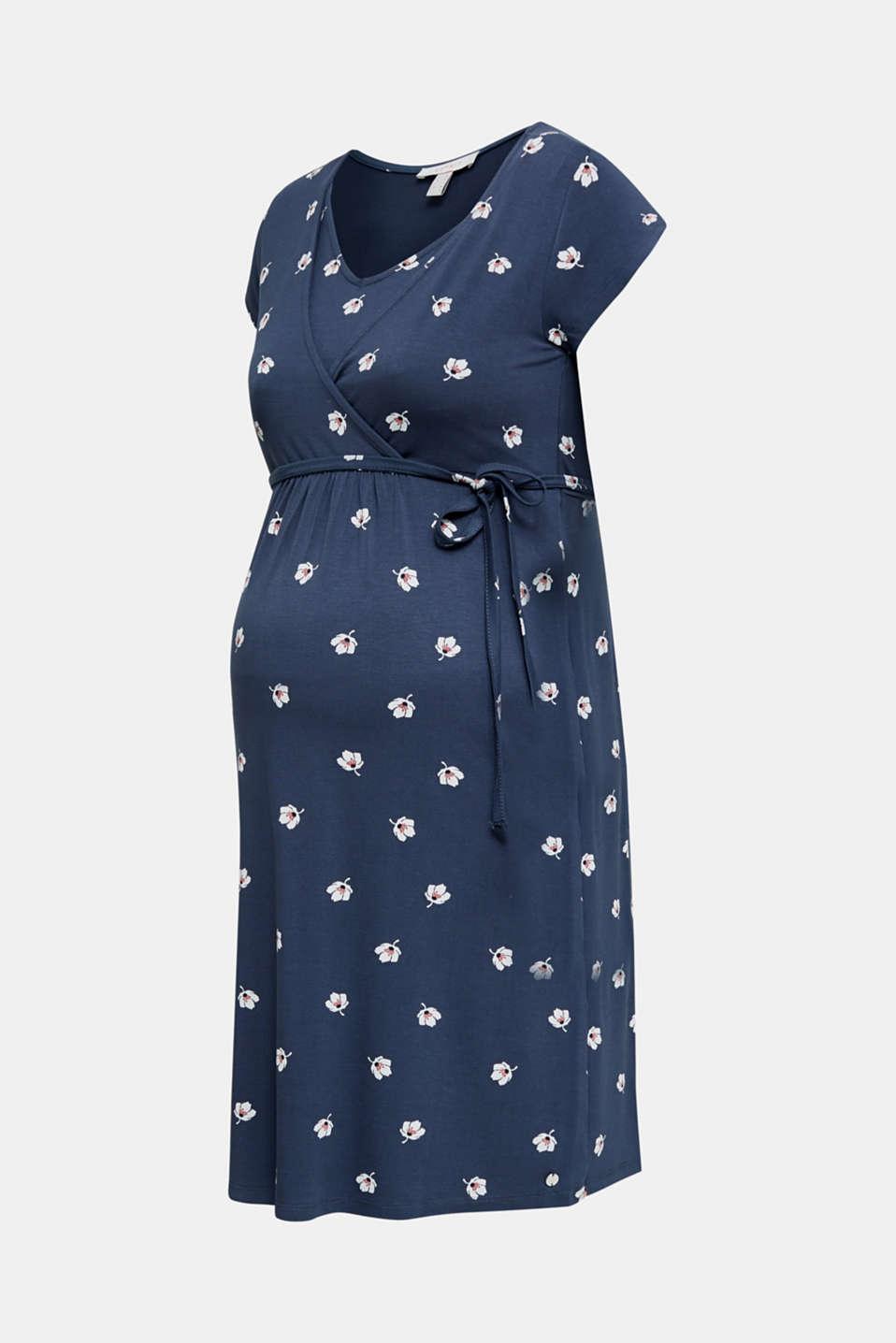 Stretch jersey nursing dress, LCGUNMETAL, detail image number 7