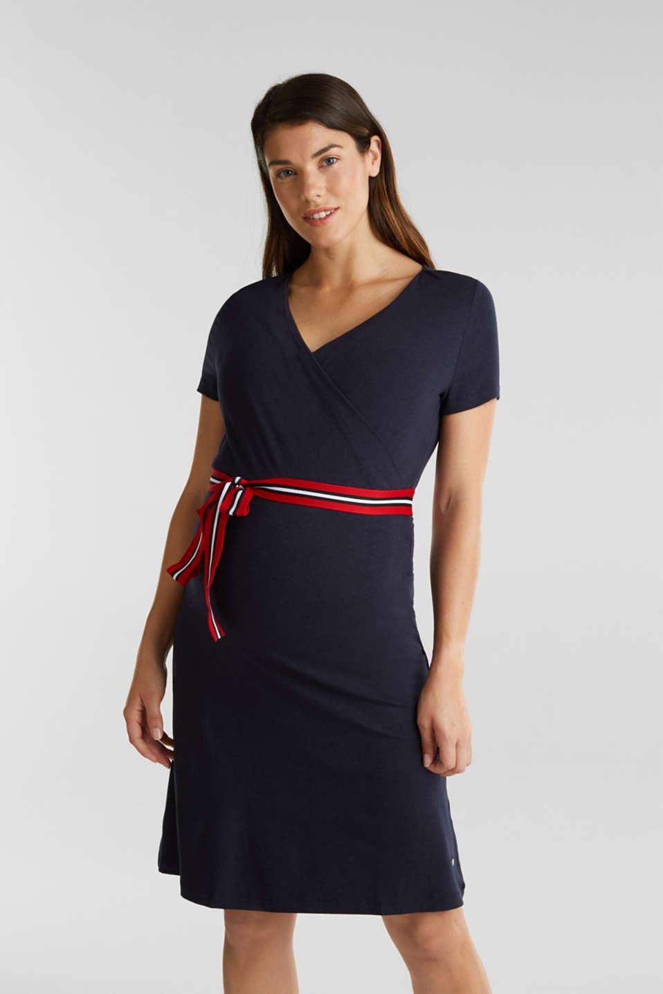 Nursing wrap dress, LCNIGHT BLUE, detail image number 0