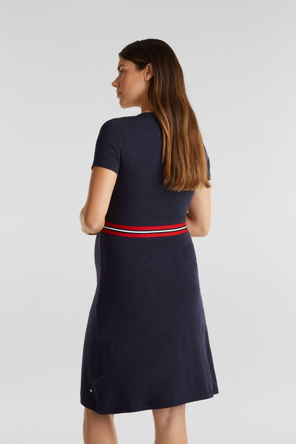 Nursing wrap dress, LCNIGHT BLUE, detail image number 2