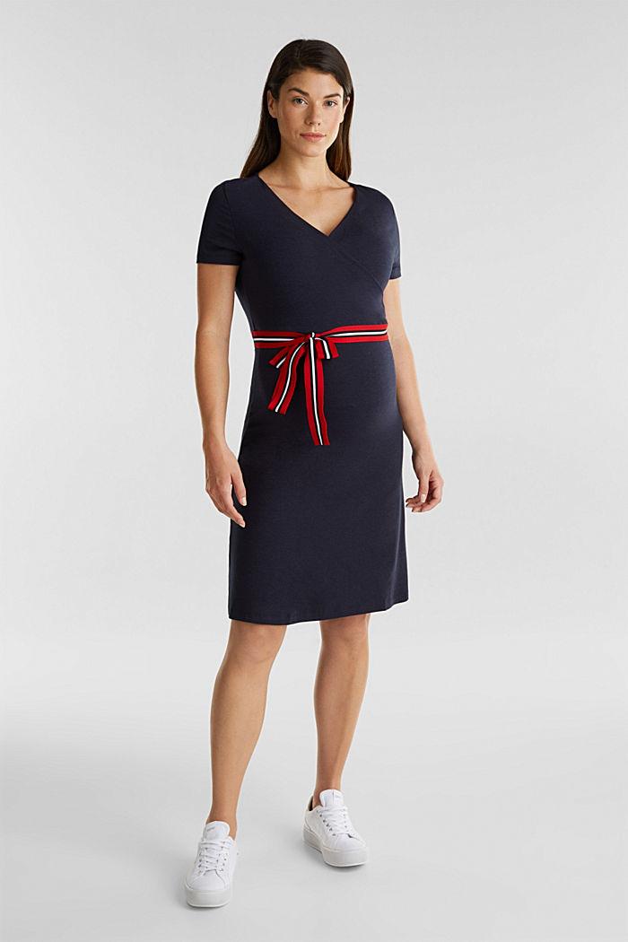 Nursing wrap dress, NIGHT BLUE, detail image number 1