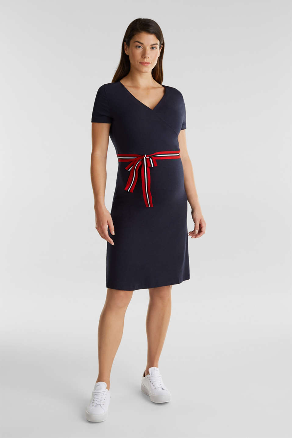 Nursing wrap dress, LCNIGHT BLUE, detail image number 1