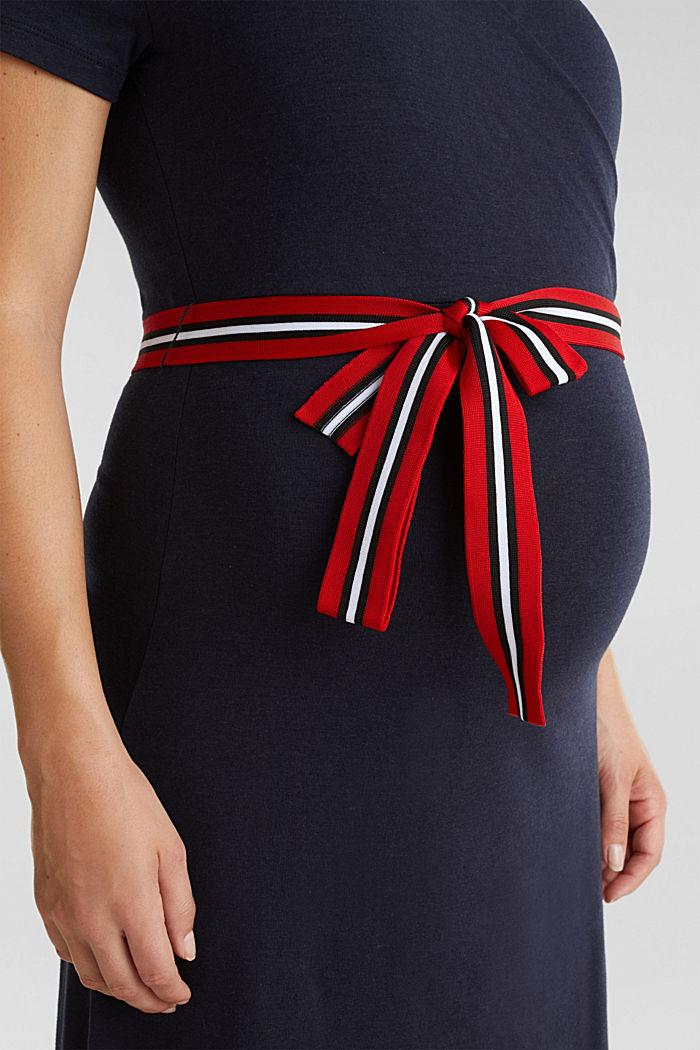 Nursing wrap dress, NIGHT BLUE, detail image number 3