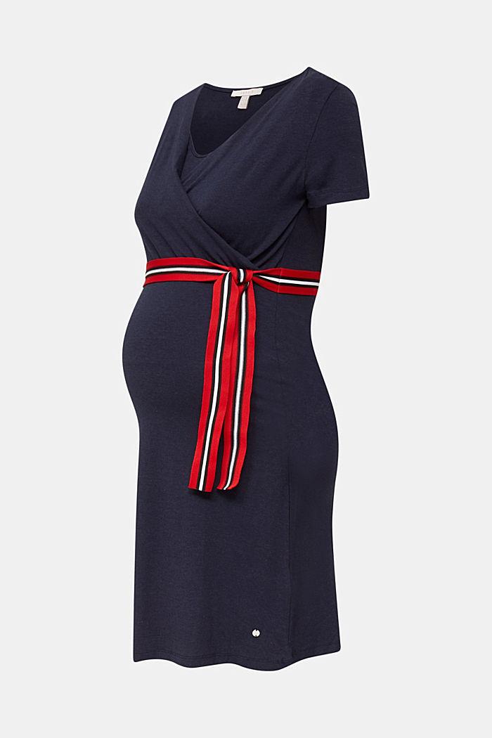 Nursing wrap dress