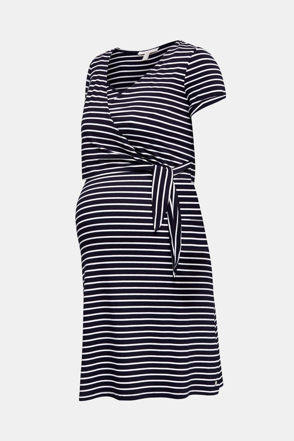 Stretch jersey nursing dress, LCNIGHT BLUE, detail image number 8