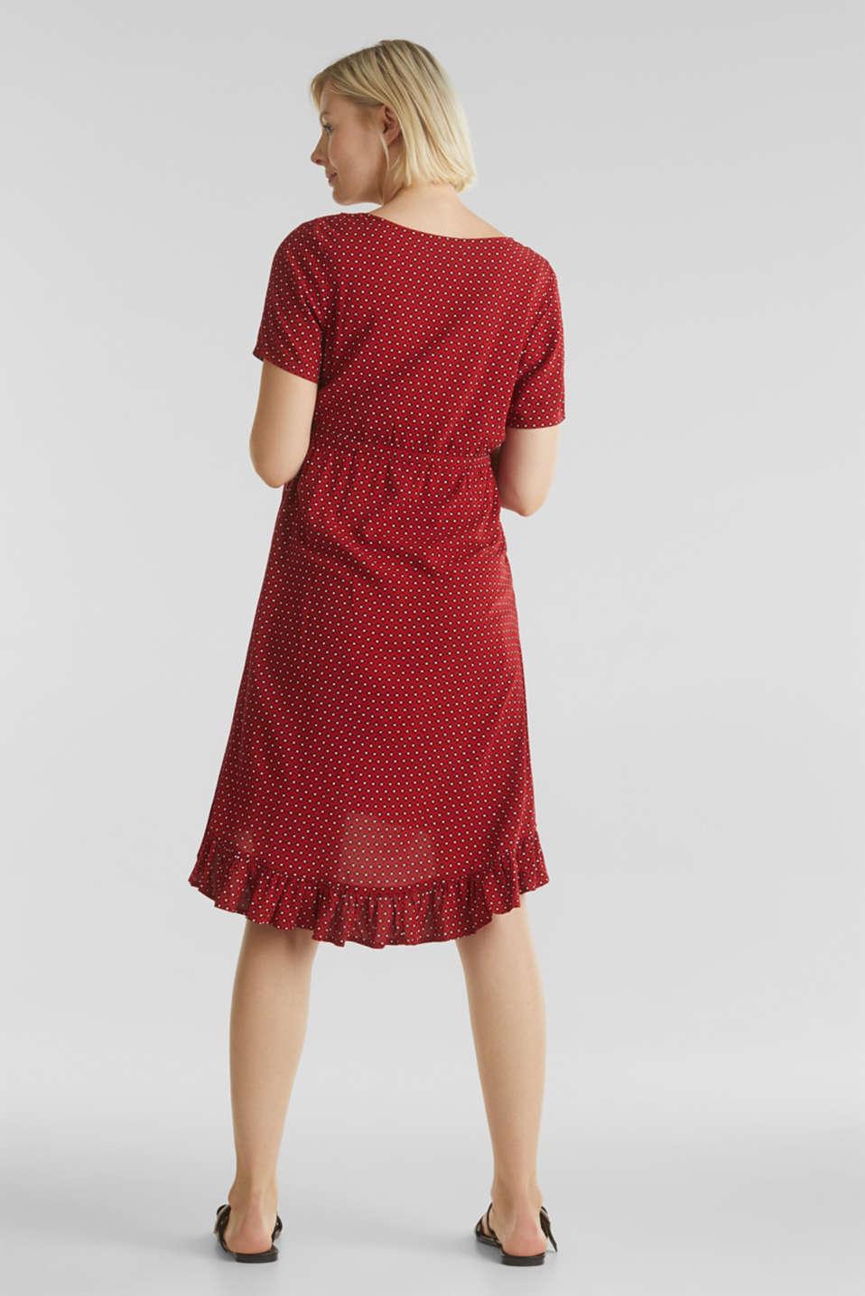 Nursing wrap dress, LCRED, detail image number 2