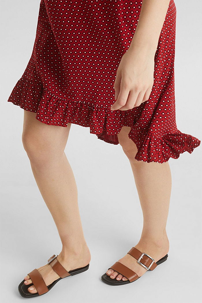 Nursing wrap dress, RED, detail image number 1